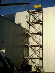 Treppenturm als Zugangsturm