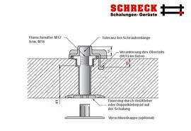 Schrägstützen-Befestigungssystem HUT-Hülse
